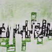 Art Excuse 'City Reflections' by AX Original Painting on Wrapped Canvas