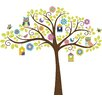 Wallpops!WallArtforBaby Hoot and Hang Out Tree Baby Wall Stickers