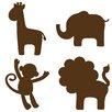 Wallpops!WallArtforBaby Jungle Baby Silhouettes Wall Stickers