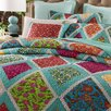 DaDa Bedding Fairy Forest Glade Floral 3 Piece Quilt Set