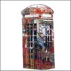 RareArtStudios London Phone Box Hand-Embellished Art Print Wrapped on Canvas