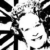 RareArtStudios The Queens Head Black & White Limited Edition Art Print Unwrapped on Canvas
