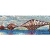 RareArtStudios Forth Bridge Rectangular Mosaic Limited Graphic Art Unwrapped on Canvas