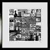 RareArtStudios London Sign Out Black & White Mural Limited Framed Graphic Art