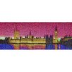 RareArtStudios Westminster Lights Vivid Mosaic Limited Graphic Art Wrapped on Canvas