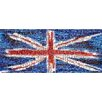 RareArtStudios Union Jack Splat Rectangular Mosaic Limited Graphic Art Wrapped on Canvas
