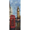 RareArtStudios London Phone Box Loves Big Ben Mosaic Limited Graphic Art Unwrapped on Canvas