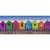 RareArtStudios Beach Huts Rectangular Mosaic Limited Graphic Art Unwrapped on Canvas