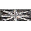 RareArtStudios Union Jack Splat Black & White Rectangular Mosaic Limited Graphic Art Wrapped on Canvas