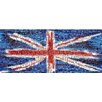 RareArtStudios Union Jack Splat Rectangular Mosaic Limited Graphic Art on Canvas