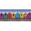 RareArtStudios Beach Huts Rectangular Mosaic Limited Graphic Art Wrapped on Canvas