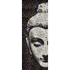 RareArtStudios Shy Buddha Mosaic Limited Graphic Art Unwrapped on Canvas