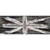 RareArtStudios Union Jack Splat Monochrome Rectangular Mosaic Limited Graphic Art on Canvas