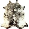 Chesterfield Leather Exotic Brazilian Cowhide Black & White Area Rug