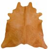 Chesterfield Leather Extra Large Dyed Brazilian Cowhide Clementine Area Rug