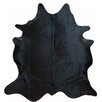 Chesterfield Leather Large Brazilian Cowhide Natural Black Area Rug