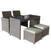 Brundle Gardener 4 Seater Dining Set with Cushions