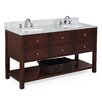 "Kitchen Bath Collection New Yorker 60"" Double Bathroom Vanity Set"