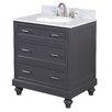 "Kitchen Bath Collection Amelia 30"" Single Bathroom Vanity Set"