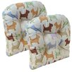 Klear Vu Scottie Dog Chair Cushion (Set of 2)