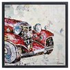 "Empire Art Direct ""Antique Automobile A"" Original Handmade Paper Collage Signed by Gianni Framed Graphic Art"