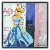 "Empire Art Direct ""Haute Couture B"" Original Handmade Paper Collage Signed by Gianni Framed Graphic Art"