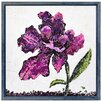 "Empire Art Direct ""Purple Wild Rose B"" Original Handmade Paper Collage Signed by Gianni Framed Graphic Art"