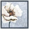 """Empire Art Direct """"White Magnolia B"""" Original Handmade Paper Collage Signed by Gianni Framed Graphic Art"""