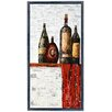 "Empire Art Direct ""Vintage Wine A"" Original Handmade Paper Collage Signed by Gianni Framed Graphic Art"