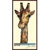 "Empire Art Direct ""Giraffe"" Original Dimensional Collage Hand Signed by Alex Zeng Framed Graphic Art"