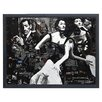 """Empire Art Direct """"Le Cabaret"""" Original Handmade Paper Collage Signed by Gianni Framed Graphic Art"""