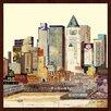 "Empire Art Direct ""New York City Skyline A"" Original Dimensional Collage Hand Signed by Alex Zeng Framed Graphic Art"