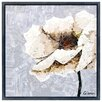 """Empire Art Direct """"White Magnolia A"""" Original Handmade Paper Collage Signed by Gianni Framed Graphic Art"""