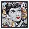 """Empire Art Direct """"Homage to Audrey"""" Paper Collage Signed by Gianni Framed Graphic Art"""