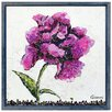 "Empire Art Direct ""Purple Wild Rose A"" Original Handmade Paper Collage Signed by Gianni Framed Graphic Art"