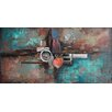 Empire Art Direct 'Composition 1' Mixed Media Iron Wall Sculpture