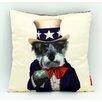 "Empire Art Direct Pets Rock™ ""Uncle Sam"" Throw Pillow"