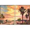 "Empire Art Direct ""Desert Oasis"" 2 Piece Painting Print Set on Canvas"