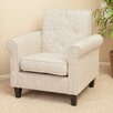 NobleHouse Idia Tufted Beige Fabric Club Chair