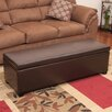 NobleHouse Lucy Brown Leather Storage Ottoman