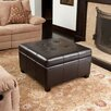 NobleHouse Rica Espresso Bonded Leather Storage Ottoman