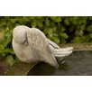 Campania International Bathing Bird Statue