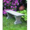 Campania International West Chester Cast Stone Garden Bench