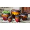 Campania International Pacifica 5 Piece Round Pot Planter Set