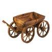 Classic Gifts and Decor Barrel Wagon Novelty Wheelbarrow Planter