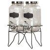 Red Barrel Studio Hargrove 3 Piece Dual Beverage Dispenser Set