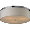 Red Barrel Studio Bettencourt 3 Light Flush Mount