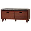 Red Barrel Studio Leather Storage Entryway Bench