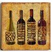Red Barrel Studio Wine Up II Wooden Textual Art