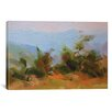 Red Barrel Studio Mountains in Blues Graphic Art on Wrapped Canvas